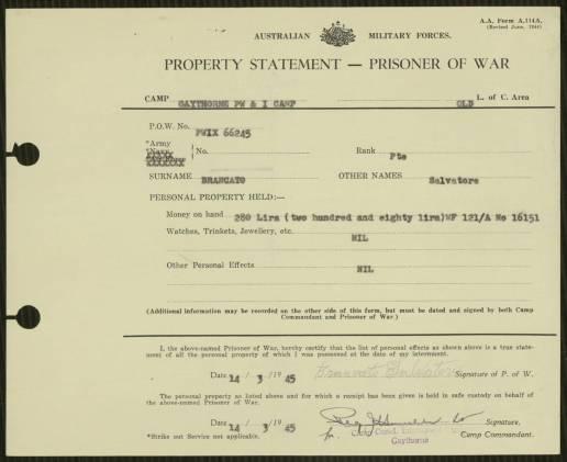 Brancato Salvatore Record of Property
