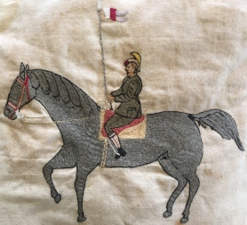 Q10 Boonah Italian prisoner of war Harsant.Pintabona.Embroidered Soldier on a Horse