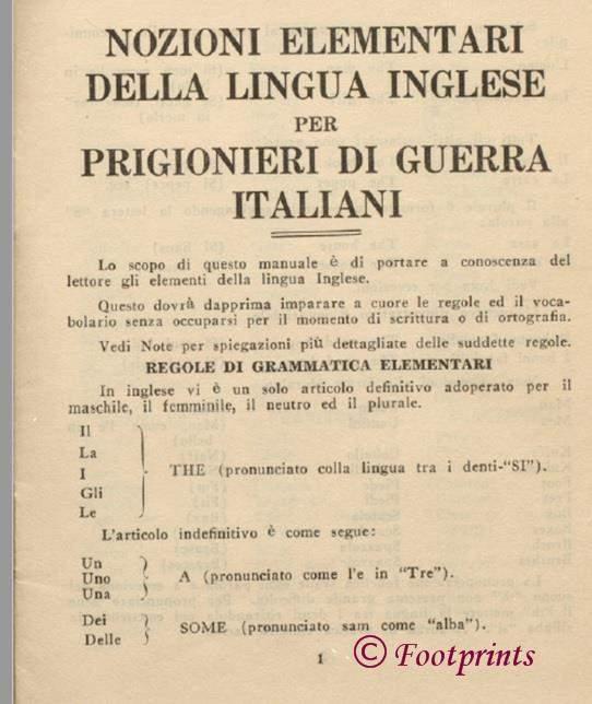 Pidgin English for Italian Prisoners of War