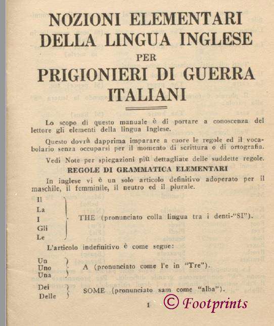 Pidgin English for Italian Prisoners of War