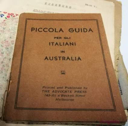 Antonio Arici Piccola Guida per gli Italiani in Australia