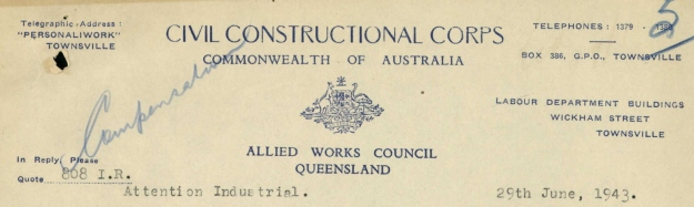 Civil Constructional Corps Letterhead