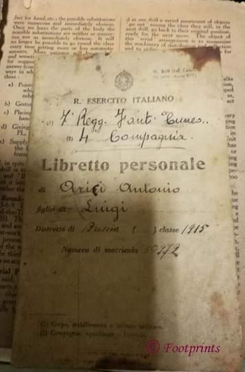 Libretto Personale ARICI Antonio