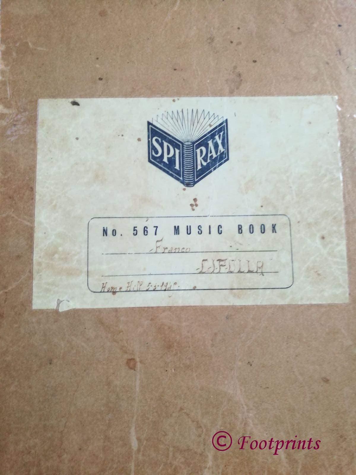 Music Book Cover Franco Cipolla Home Hill IMG_2243