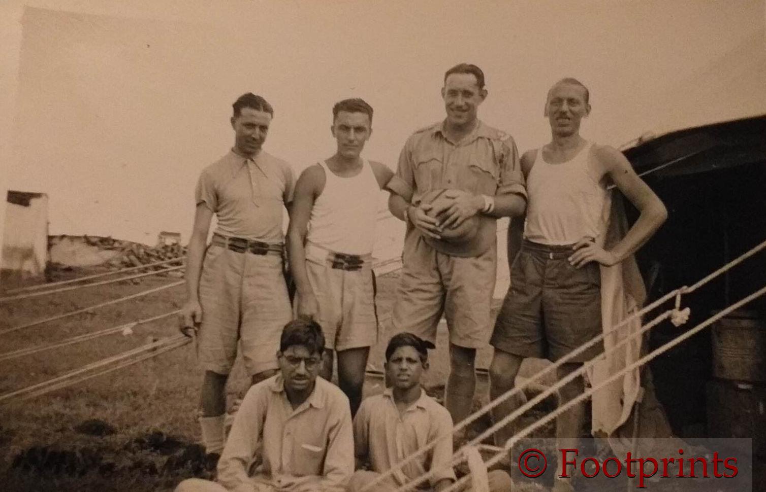 Stucchi back row Pellicane Stucchi Joyce Volonterio BHOPAL SEPT 1941