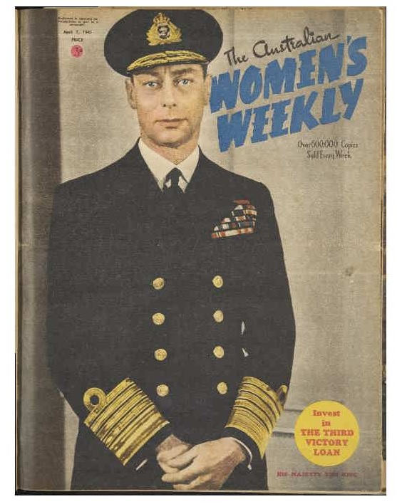 1945 April Women's Weekly Cover