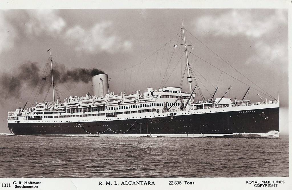 Alcantara Troop ship 1942