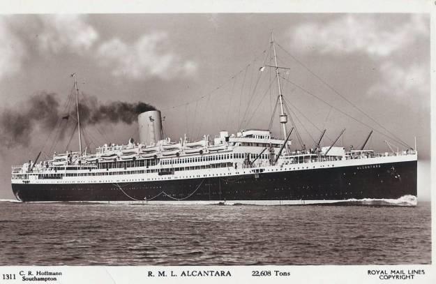 Alcantara Troop ship 1942
